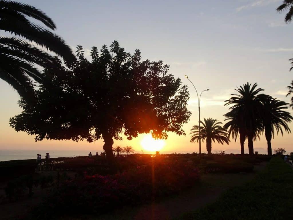 Sunset in Miraflores, Lima, Peru