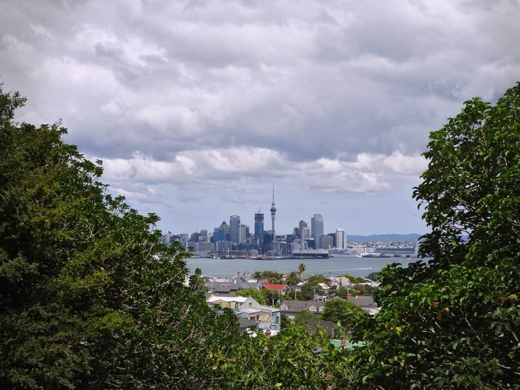 Auckland skyline from Devonport New Zealand, trip cut short