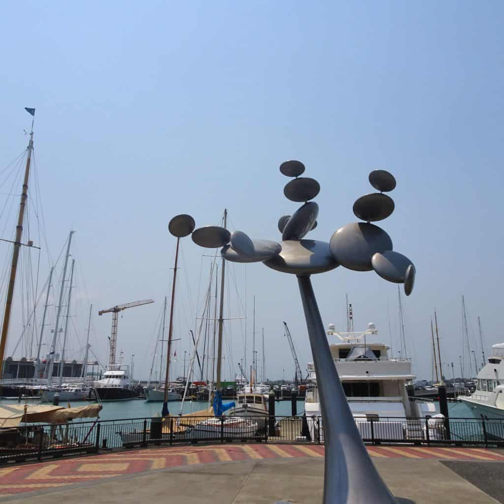 Sculpture at Viaduct Harbour Auckland New Zealand