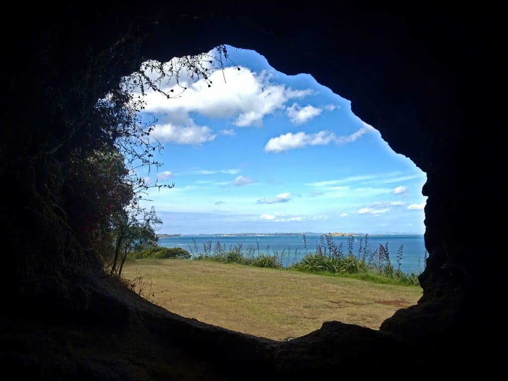 Ocean View from Cave in North Head Devonport Auckland New Zealand