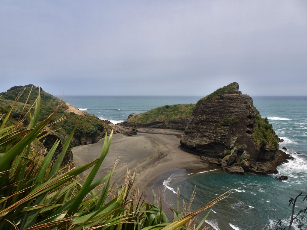 Piha Beach from above, New Zealand