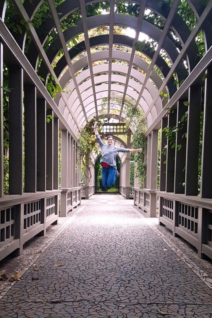 Hallway at Hamilton Gardens, New Zealand