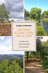 9 ways to  get alone-time on a trip Pin