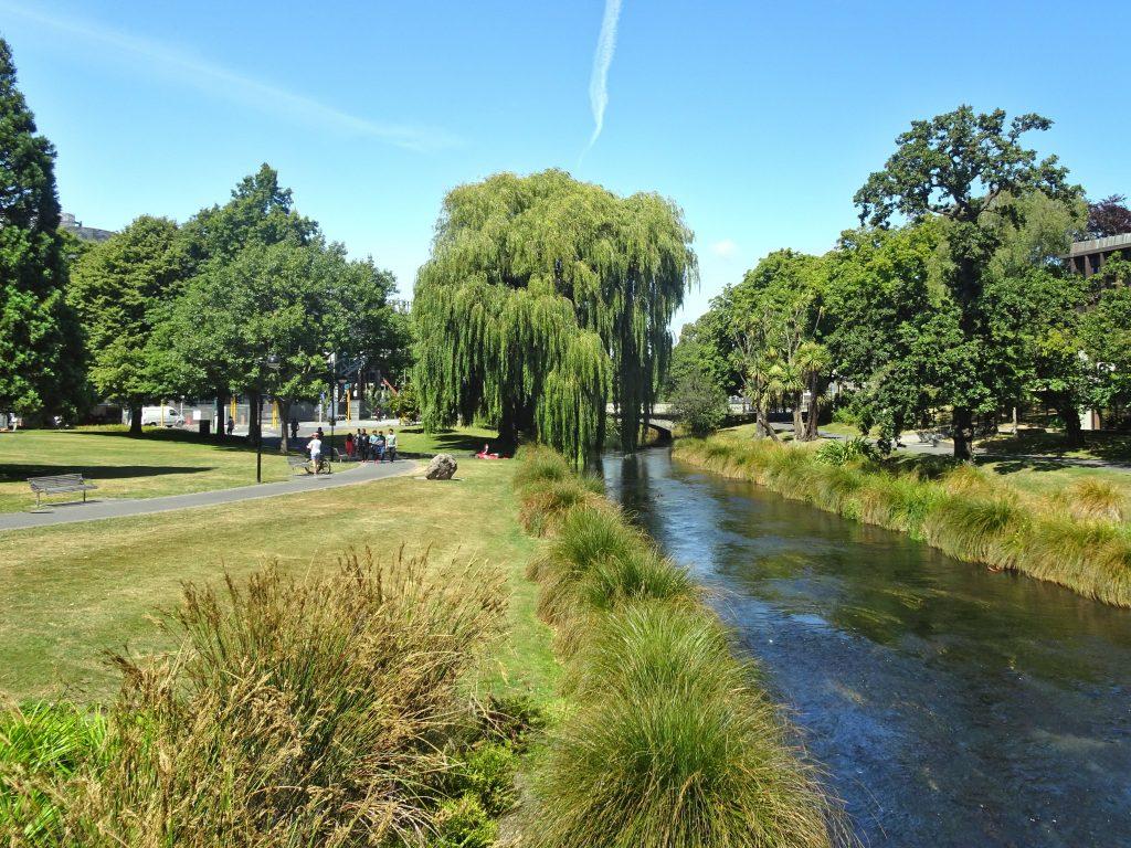 Avon river, Christchurch. New Zealand