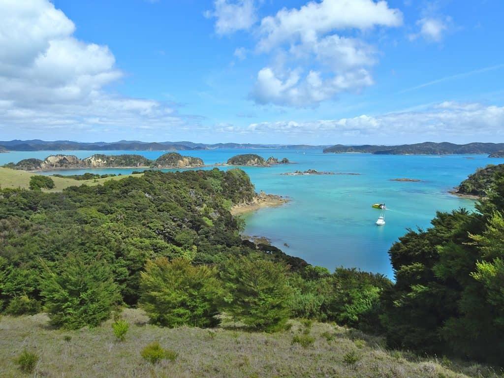 View over Otehei Bay on Urupukapuka Island, New Zealand