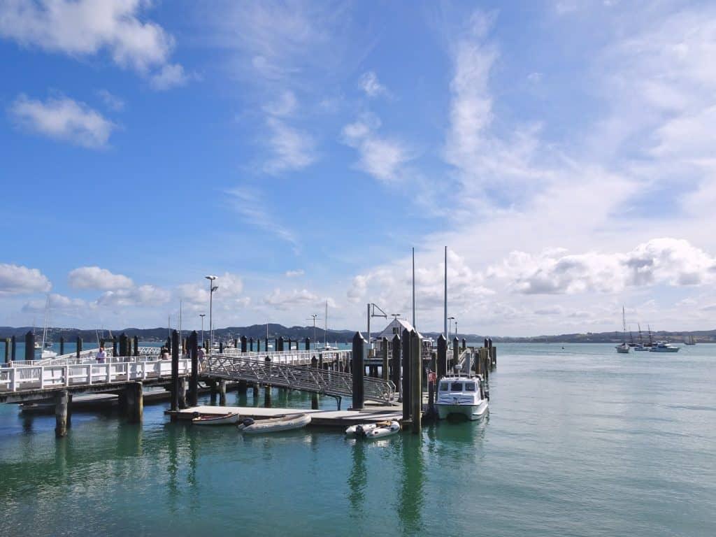 Pier in Russell, Bay of Islands, New Zealand