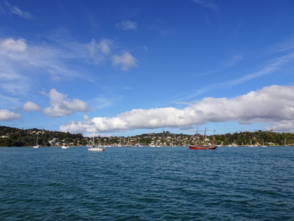 Russell from the water, Bay of Islands, New Zealand