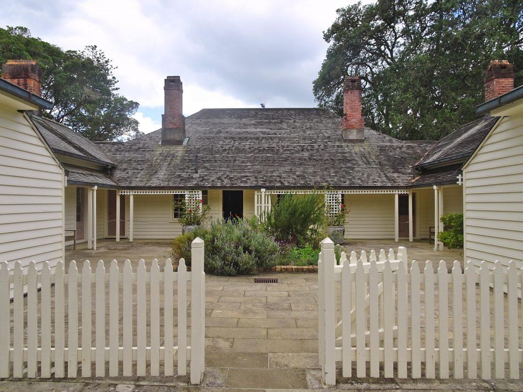 Historic building on Waitangi Treaty Grounds, New Zealand