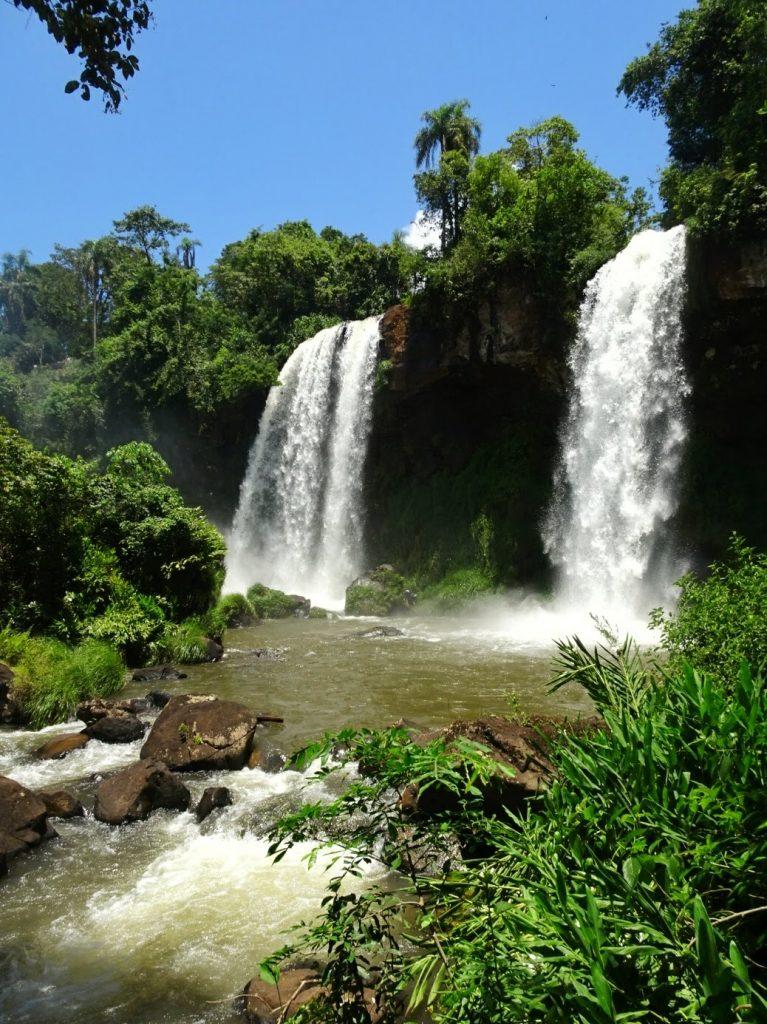 Twin waterfalls at Iguazu, Argentina
