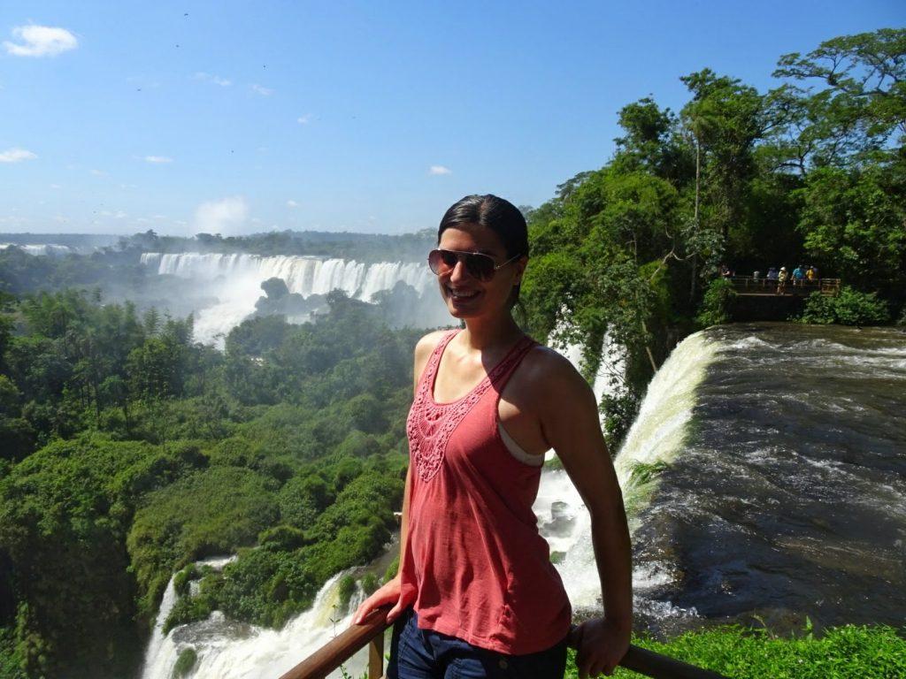 in front of Iguazu Falls, Argentina